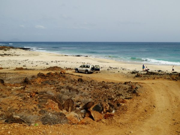 By four-wheel drive to secluded beaches on Sao Vicente, Cape Verde