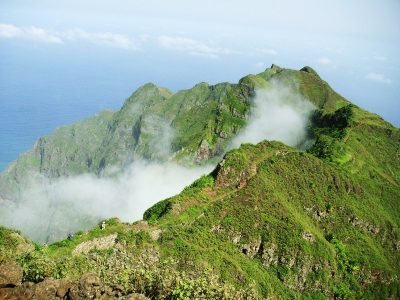 Mountain hiking in Cabo Verde Santo Antao island