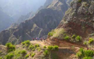 Hiking in the mountains of Santo Antao