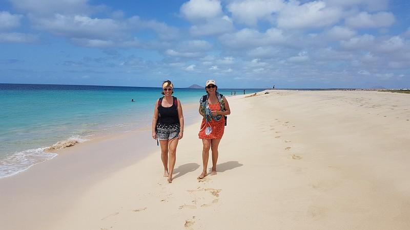 Sun and sandy beach on Cape Verde islands