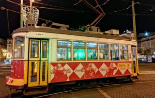 Traditional tram in Lisbon